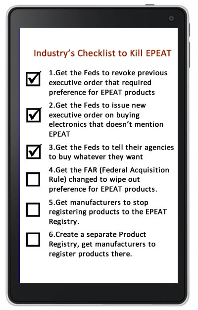 Steps for killing EPEAT